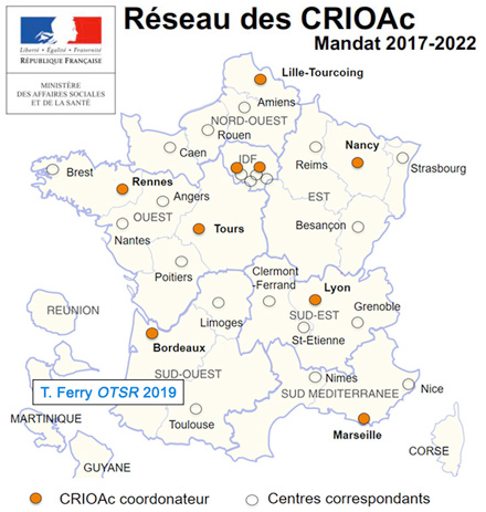 carte du réseau des crioac