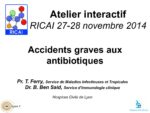 Atelier interactif : Accidents graves aux antibiotiques