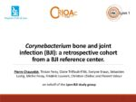 Corynebacterium bone and joint infection (BJI): a retrospective cohort from a BJI reference center