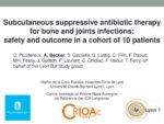 Subcutaneous suppressive antibiotic therapy for bone and joints infections