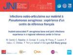 Infections ostéo-articulaires sur matériel à Pseudomonas aeruginosa: expérience d'un centre de référence français
