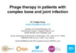 Phage therapy in patients with complex bone and joint infection