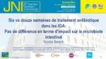 Six Vs. 12 semaines de traitement antibiotique dans les IOA : pas de différence en terme d'impact sur le microbiote intestinal