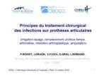 Principes du traitement chirurgical des infections sur prothèses articulaires