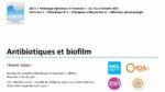 Antibiotiques et biofilm