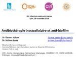 Activité intracellulaire et antibiofilm des antibiotiques
