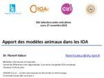 Les modèles animaux et les IOA : Apport de la littérature et expérience personnelle