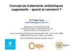 Concept de traitements antibiotiques suspensifs : quand et comment ?