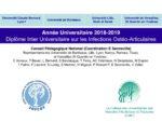 Présentation du Diplôme Inter-Universitaire Infections Ostéo-Articulaires et du Réseau des Centres de Référence des IOA (CRIOAc network)