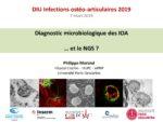 Diagnostic microbiologique des IOA