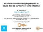 Impact de l'antibiothérapie prescrite au cours des IOA sur le microbiote intestinal