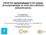 Interêt des bacteriophages et des lysines de bacteriophages au cours des infections ostéoarticulaires
