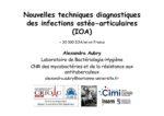 Nouvelles techniques diagnostiques des infections ostéo-articulaires