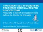 Traitement des infections de prothèses articulaires par synovectomie