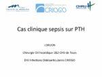 Cas clinique sepsis sur PTH