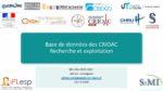Base de données des CRIOAC: Recherche et exploitation