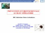 Prévention environnementale, bloc opératoire