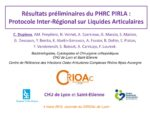 Résultats étude PIRLA (Protocole inter-régional liquide articulaire)