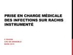 Prise en charge médicale des infections sur rachis instrumenté