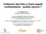 Traitement des IOAc à Gram-négatif multirésistants : quelles options ?