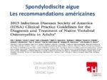 Spondylodiscite aigue : Les recommandations américaines