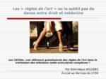 Les « règles de l'art » ou le subtil pas de danse entre droit et médecine