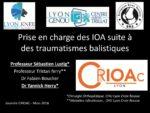 Prise en charge des IOA suite à des traumatismes balistiques