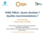PHRC PIRLA : Quels résultats? Quelles recommandations ?