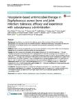 Teicoplanin-based antimicrobial therapy in Staphylococcus aureus bone and joint infection: tolerance, efficacy and experience with subcutaneous administration