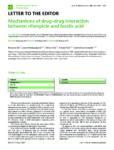 Mechanisms of drug-drug interaction between rifampicin and fusidic acid
