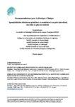Recommandations sur les spondylodiscites datant de 2007 (texte court)
