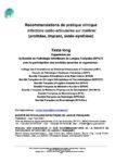 Recommandations de la Société de Pathologie Infectieuse de Langue Française (SPILF) sur les infections sur matériel 2009 (texte long)