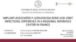 Implant-associated P. aeruginosa bone and joint infections : experience in a regional reference center in France